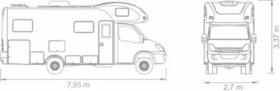 Motorhome Santo Inácio - Motorização/chassis